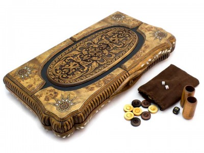 Handcrafted Ottoman Wooden Backgammon