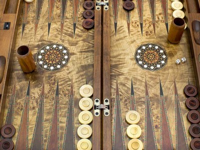 Handcrafted Ottoman Wooden Backgammon