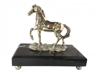 Silverr Plated Decorative Horse