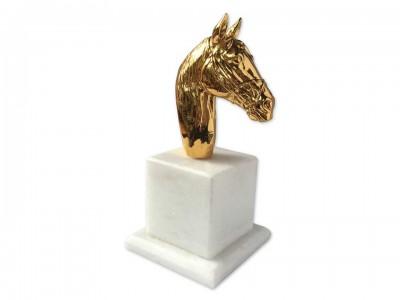 Golden Color Plated Decorative Horse Bibelot