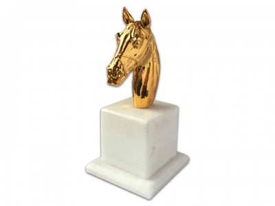 Golden Color Plated Decorative Horse Bibelot