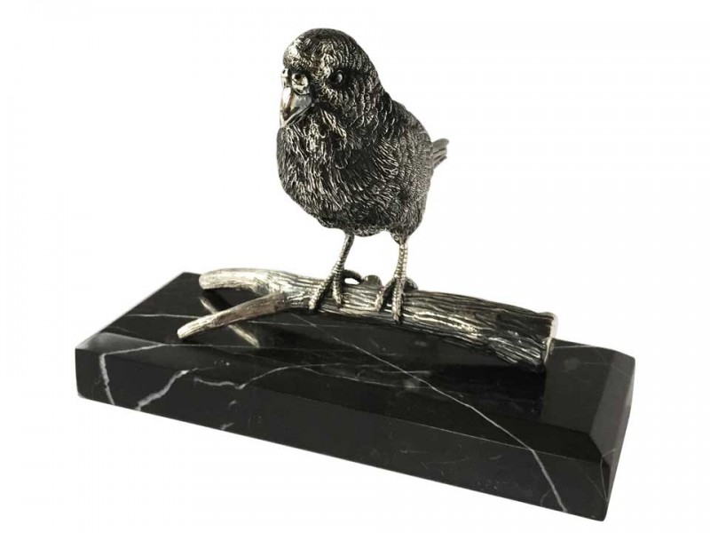 Silver Plated Lovebird Bibelot