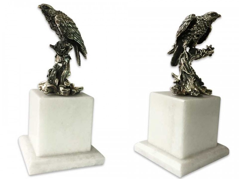Silver Plated Falcon Bibelot