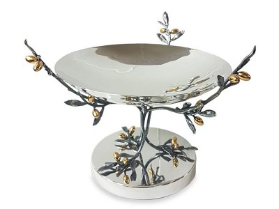 Silver Plated Olive Tree Bowl