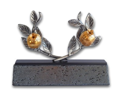 Silver Plated Pomegranate Branch