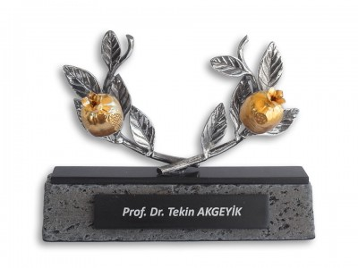 Silver Plated Pomegranate Plaquet