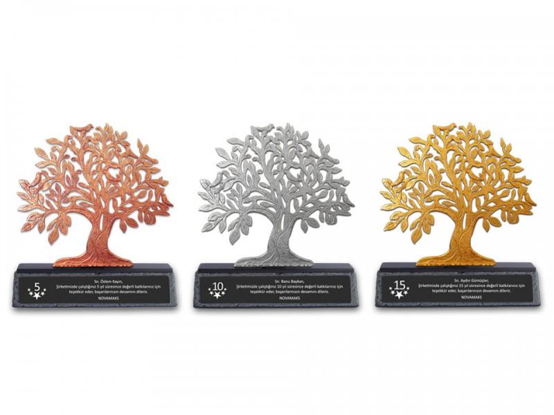 Hayat Ağacı Dekoratif Kıdem Plaketi
