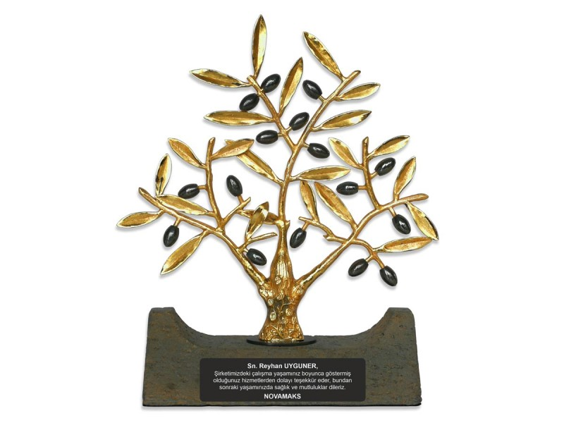 Zeytin Ağacı Dekoratif Plaket