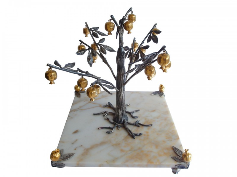 Silver Plated Pomegranate Tree