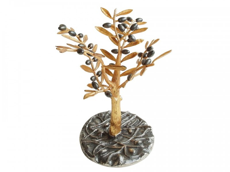 Silver Plated Olive Tree