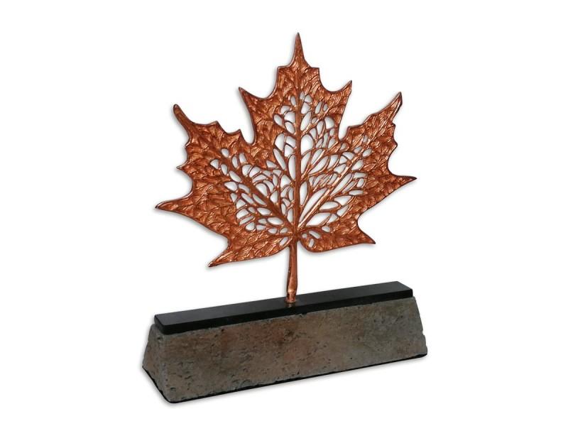 Çınar Yaprağı Dekoratif Plaket Bronz (Küçük)