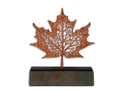 Çınar Yaprağı Dekoratif Obje Bronz (Küçük)