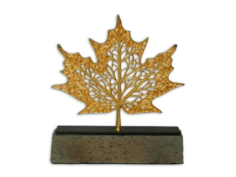 Çınar Yaprağı Dekoratif Obje Gold (Küçük)