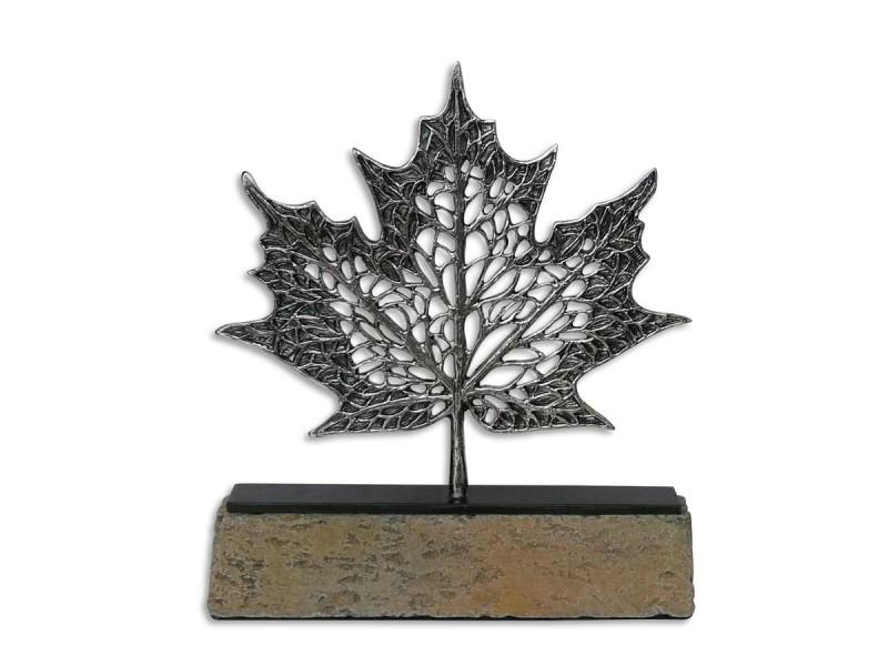 Çınar Yaprağı Dekoratif Obje Silver (Küçük)