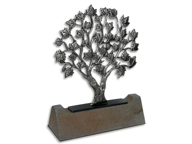 Çınar Ağacı Dekoratif Plaket (Silver)