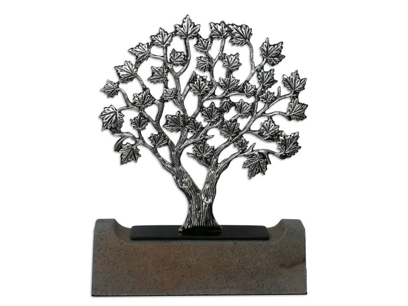 Çınar Ağacı Dekoratif Obje (Silver)
