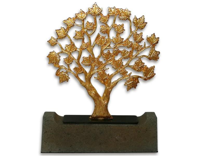Çınar Ağacı Dekoratif Obje (Gold)