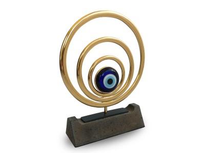 Nazar Temalı Dekoratif Plaket (Gold)