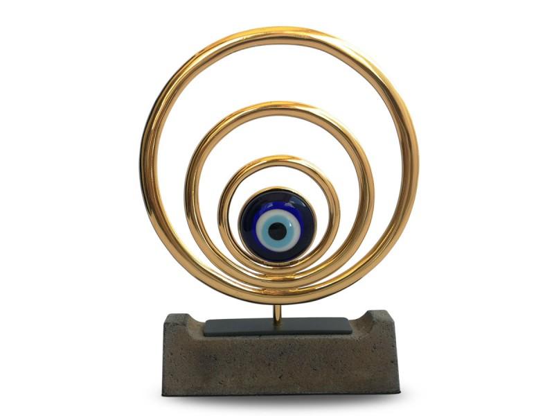Nazar Temalı Dekoratif Obje (Gold)